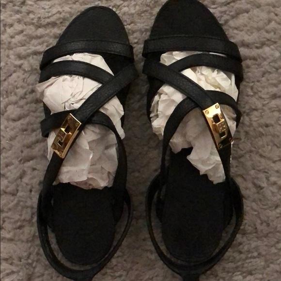 b1492003857464 Tory Burch Dalcin Pebbled Leather Strap Sandals
